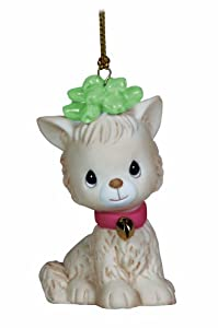 Precious Moments Cat with Bow Ornament
