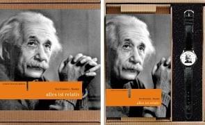 Die Einstein-Box. Alles ist relativ. Geschenkbox mit Einstein-Uhr und Buch