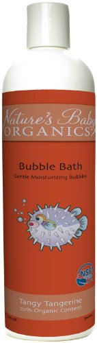 Nature'S Baby Organics Nsf Certified Bubble Bath - Tangy Tangerine - 12 Oz