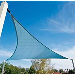 Yuzet 3,6 m x 4m Alta Resistencia Triangulo Tono Vela, Sol Capota Toldo Patio