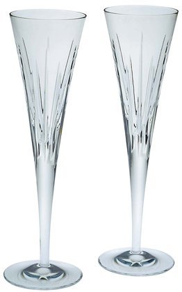 Reed & Barton Soho Crystal Flutes, Pair