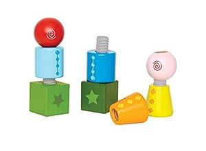 Hape E0416 - Juguete de apilar con rosca, varios colores