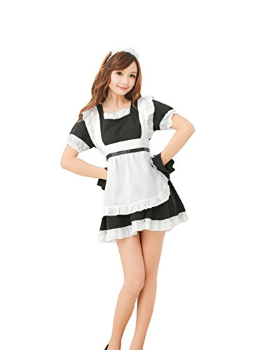 Hot Sexy Adult French Maid Waitress Outfit Costume Dress Set