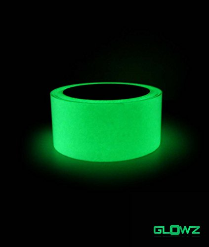 Glowz High Luminance Glow in the Dark Photoluminescent Neon Green Tape - 1