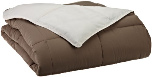 Grand Down All Season Down Alternative King Reversible Comforter, Ivory/Taupe front-1068161