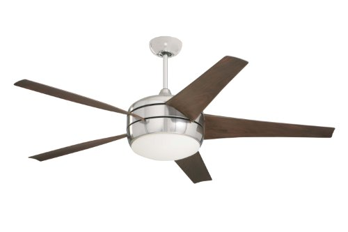 Emerson Cf955Bs Midway Eco Energy Star Indoor Ceiling Fan, 54-Inch Blade Span, Brushed Steel Finish, Midnight Bordeaux Blades And Opal Matte Glass