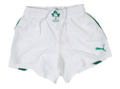 Ireland 2012/13 Home Players Rugby Shorts White/Green - size 36