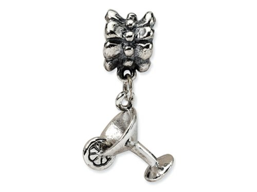 Reflections Sterling Silver Martini Dangle Bead / Charm