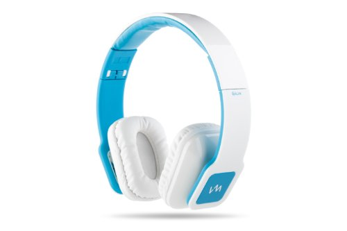 Vm Audio Elux On Ear Dj Stereo Mp3 Iphone Ipod Bass Headphones Piano White Blue
