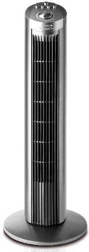 Taurus Babel - Ventilador Torre, 3 Veloc., 45W, Oscilante, Temporizador 2H, Asa Transporte, Silencioso, Negro.