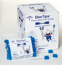 Dentips - Untreated Oral Care Swabs (Box of 250)