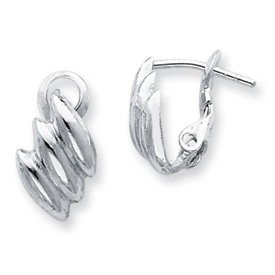 Genuine IceCarats Designer Jewelry Gift Sterling Silver Clip-Back Earrings