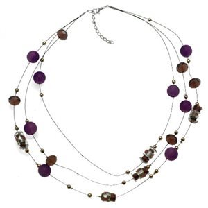 Flossie Silver Purple Choker Necklace