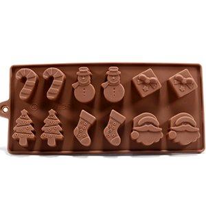 12x moules à chocolat pour noël