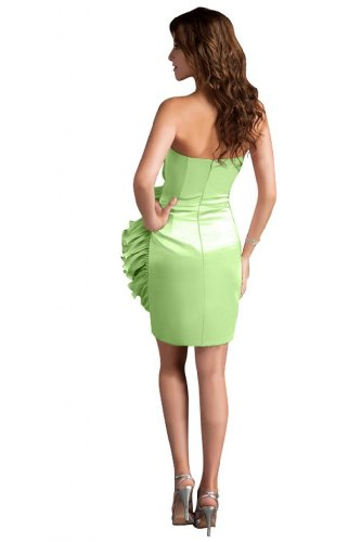 31NFXMJdjdL Sale off: Emma Y Lady Womens Strapless Handmade Flower Short Dress