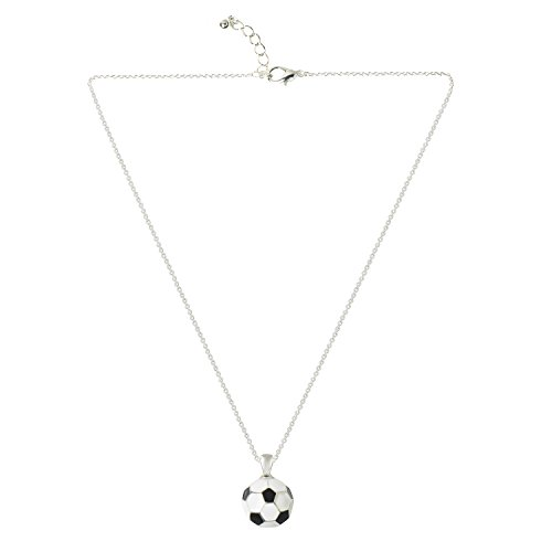 D EXCEED Sports Jewelry Enamel Ball Pendant Thin Linked Chain Necklaces for Women 18