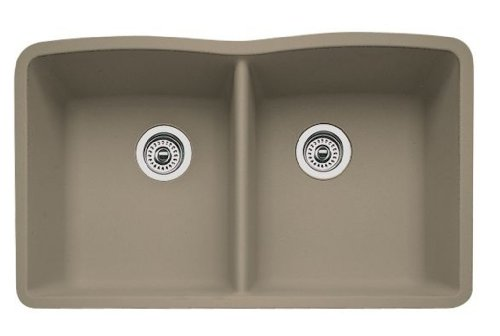 Blanco 441286 Diamond Equal Double Bowl Silgranit Ii Sink, Truffle