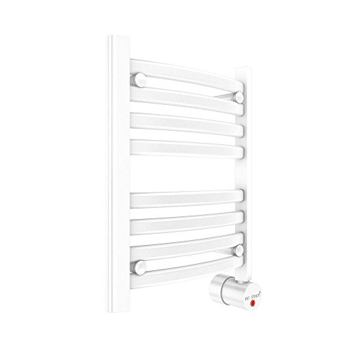 Mr. Steam W216WH Wall Mounted Towel Warmer, White Curved