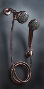Mariner Oil Rub Bronze Combination Shower Head