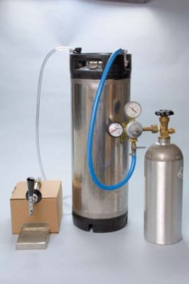 Refrigerator Cornelius Keg system - Ball Lock Keg