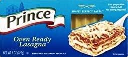 Prince Oven Ready Lasagna Pasta 8 OZ (Pack of 12)