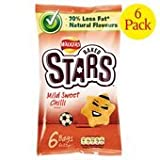 Walkers Baked Stars Mild Sweet Chilli Crisps 6 X 23G
