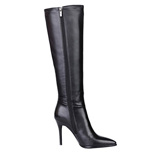 Women's Froie Autumn Winter Pointed Toe Stiletto Heels Knee High Boot