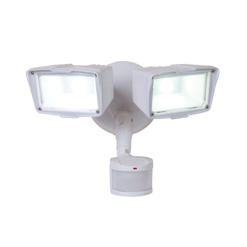 All-Pro Mst18920Lw, 180? Motion Activated Twin Head Led Floodlight, White