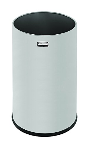 Rubbermaid Commercial FGUB1900SSS Steel Open-Top Trash Can, Round, 5-Gallon, Stainless Steel (Trash Can 17 Inch compare prices)
