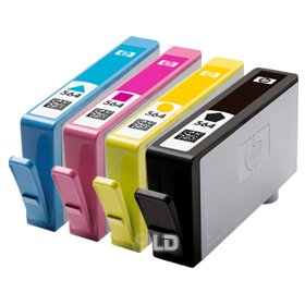 HP 564 Inkjet Cartridges, Set of 4 (Black, Cyan, Magenta & Yellow)