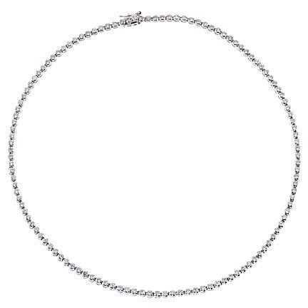 2MM Bezel C.Z. Diamond Tennis Necklace (Nice Gift, Special Sale)