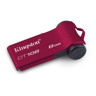 Kingston DataTraveler 108 8 GB Flash Drive DT108/8GBZ