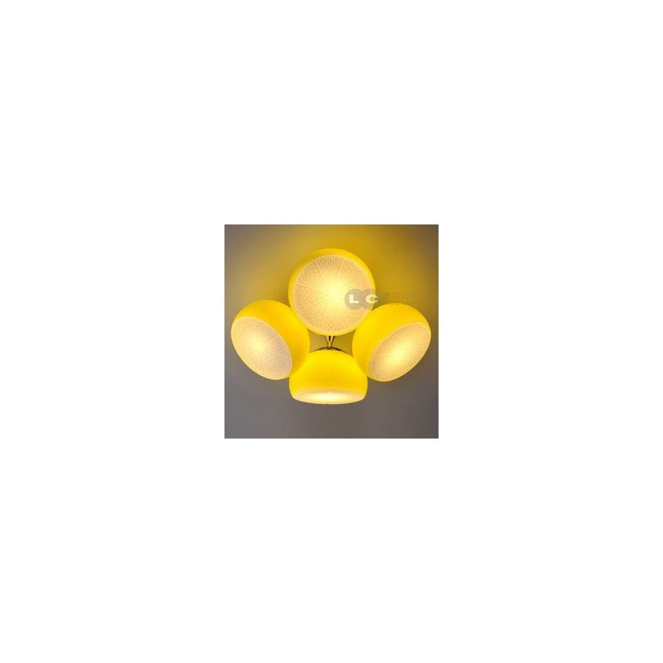Simple single room fashion cute cartoon children Ceiling Lights lemon