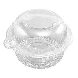 Healthcom 50x Plastic Single Clear Cupcake Pod Cake Muffin Holder Carrier (Individual Ice Cream Containers compare prices)