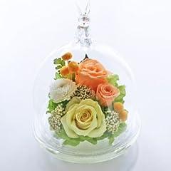 送料無料 光るバラ うさぎ クリスマス  (2.オレンジイエロー グリーン発光) 誕生日 結婚記念日