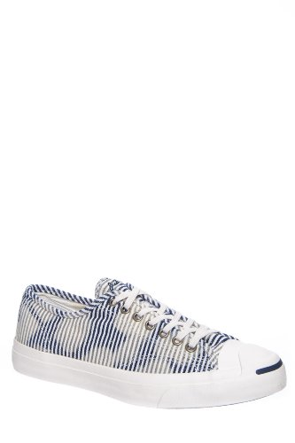 Converse Unisex Jack Purcell? Jack Ox Egret/Dozar Blue Sneaker Mens 10, Womens 11.5 Medium (Jack Purcell Shoes Men compare prices)