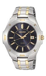 Seiko Men's Dress Two-tone Bracelet watch #SGEE60