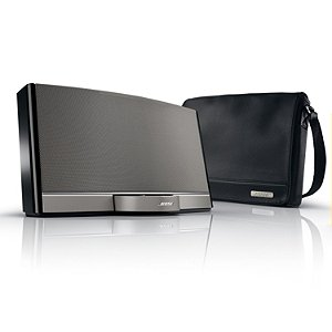 Bose® Sounddock® Portable Digital Music System & Bose® Travel Bag - Gloss Black (Bose® Portable Package)