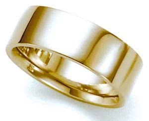 Comfort Fit Flat Wedding Band in 14k Yellow Gold (3mm)