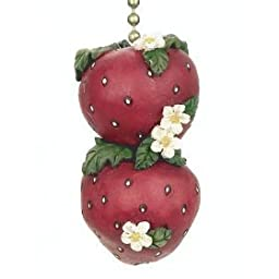 Strawberries StrawBerry Farm Ceiling Fan Light Pull