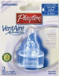 Playtex 5923 Slow Stage 1 VentAire® Bubble Free Bottle System Nipples - 1