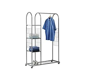 brand new tidy clothes rail with shelves and shoe rack. Black Bedroom Furniture Sets. Home Design Ideas