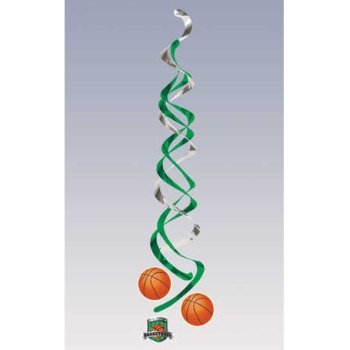 Basketball Deluxe Hanging Danglers 2 Per Pack - 1