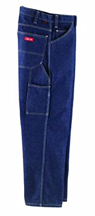 Workrite Flame Resistant 14 oz Indura Dickies Carpenter Jean Pant, 36 Waist Size, Open Inseam, Denim