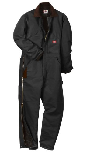 Dickies Men's Insulated Coverall, Black, Large-Regular