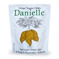 Danielle Crispy Veggie Chips, Royal Sweet Potato, 2-Ounce Bags (Pack of 6)