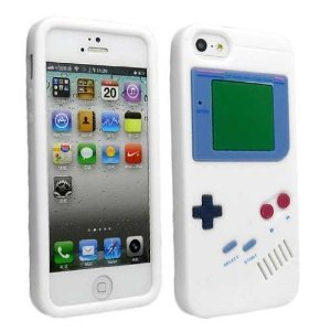 i3C Accessories (TM) Game Boy Gameboy Silicone Case For iPhone 5 5G 5TH White