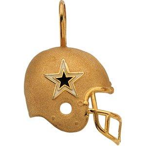 14k Gold Dallas Cowboys Helmet Pendant Enamel 21.25 X 21 - JewelryWeb