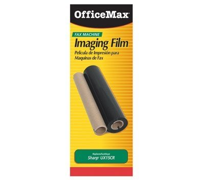 OfficeMax Compatible Sharp UX-15CR Fax Refill Roll, Black