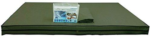 Dream Care Waterproof And Dustproof Small Twin Size (30 X 72 X 5) Green Zipper Mattress Cover - Set Of 2